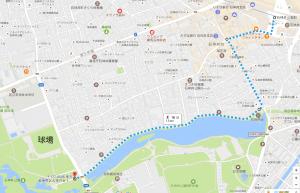 石神井公園 複合遊具までのルート