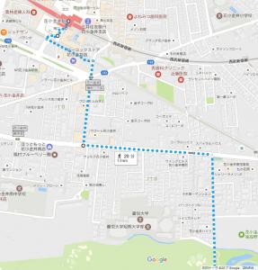 花小金井駅から小金井公園まで