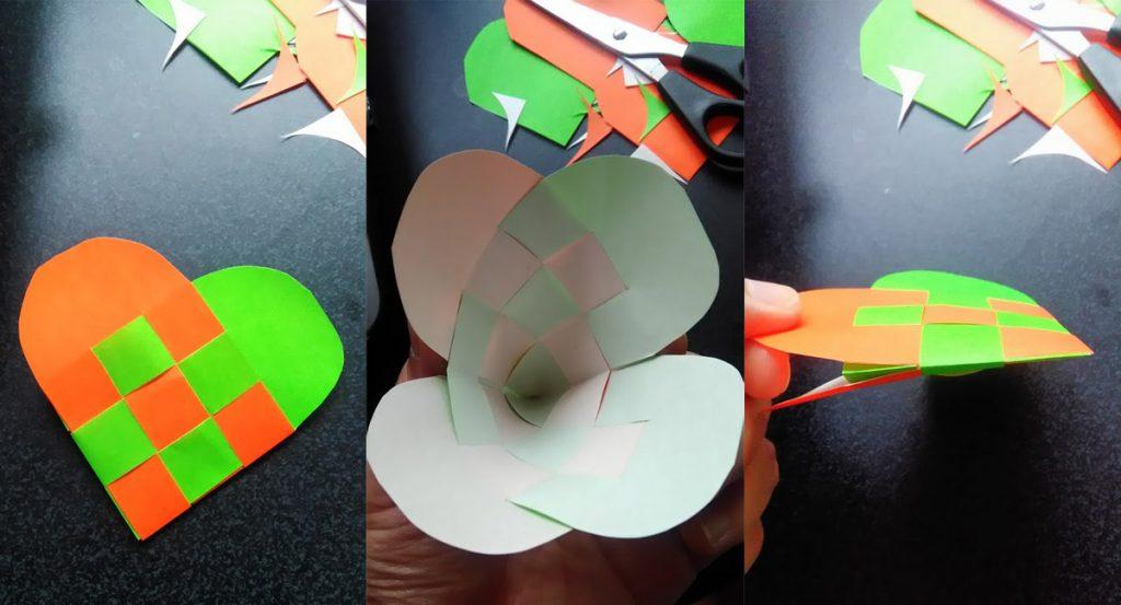 折り紙-ハートバッグ-モンテッソーリ教育