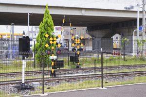ららぽーと富士見 鉄道広場 セガソニック鉄道 踏切