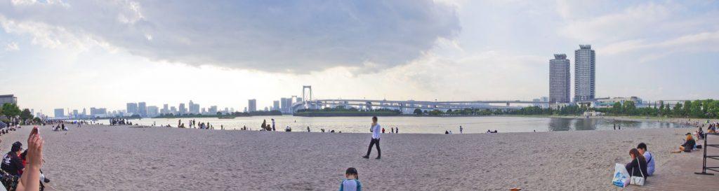 お台場-海浜公園-砂浜 ビーチパノラマ