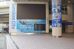 東急ハンズ前の水族館広告