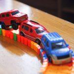 西松屋 SmartAngel くねっとロード パーツを組み合わせてくねくね曲がるコース(レール)を作ることができるおもちゃが楽しい!