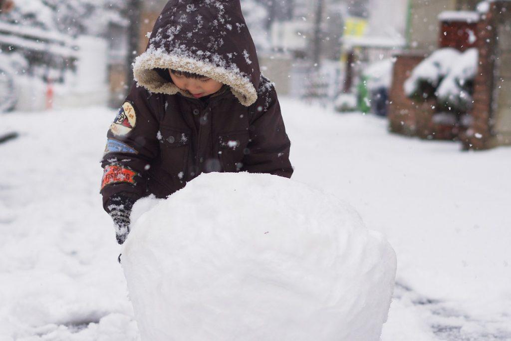 冬 風邪 雪遊び 雪だるま