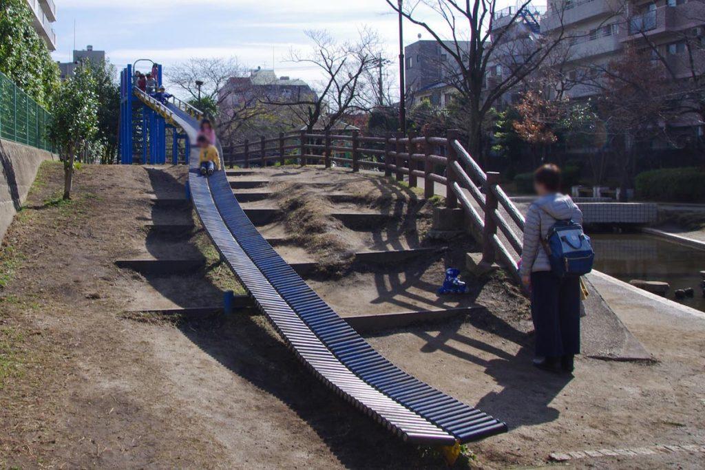 大横川親水公園 ローラー滑り台2