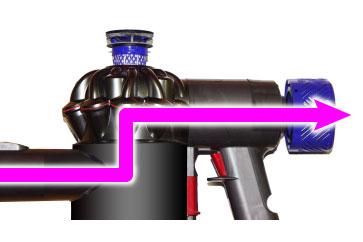 v8までの吸排気の流れ