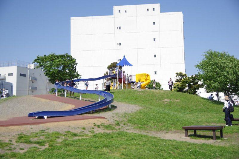 大森ふるさとの浜辺公園 ローラー滑り台