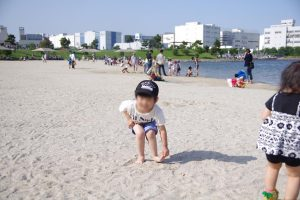 大森ふるさとの浜辺公園 砂浜