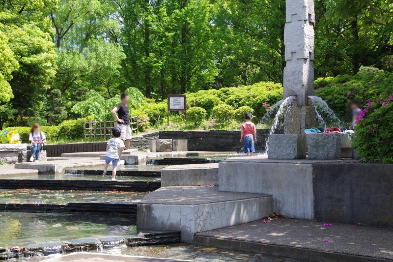 大田区 平和の森公園 じゃぶじゃぶ池