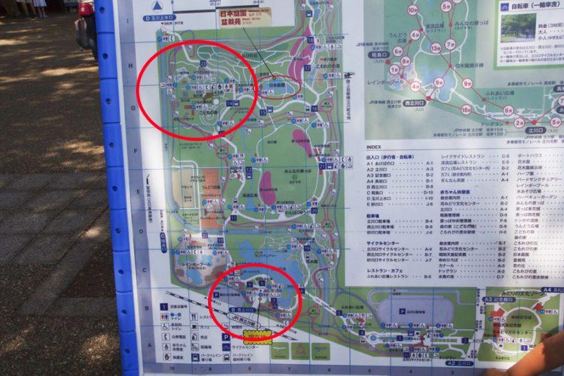 東京都立川市 昭和記念公園 マップ