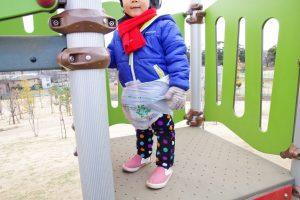 東伏見公園 ローラー滑り台 階段