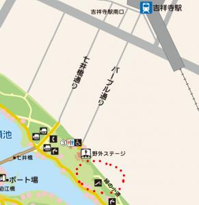東京都建設局 井の頭公園案内図